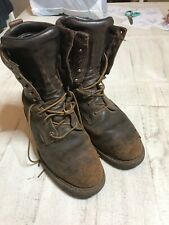 Red Wing MEN SZ 8  EH Brown Leather Steel Toe Logger Work Safety Boots WORN