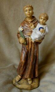 VINTAGE ST.ANTHONY OF PADUA ITALIAN FIGURINE CATHOLIC HOME RELIC
