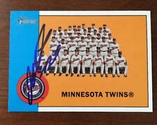 MINNESOTA TWINS MYSTERY 2012 BOWMAN HERITAGE AUTOGRAPH SIGNED AUTO CARD 162