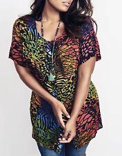 Roamans multi crinkle long shirt Plus size 18-36 summer blouse   (314)