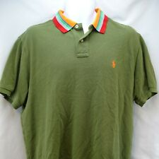 Mens Shirt XL Polo Ralph Lauren Rugby Style Olive Green