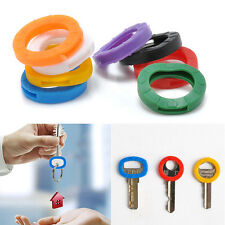 8PCS Elastic Hollow Silicone Key Cap Covers Topper Keyring With Bly Braille New