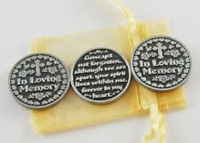 In Loving Memory Pocket Tokens - Set of 3 with Organza Bag