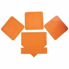 Play Field Rubber Base Set 5pc Orange Soft Tee Ball Practice Pitcher Plate Game