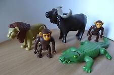 PLAYMOBIL LOT ANIMAUX DE LA SAVANE CROCODILE BUFFLE  SAVANE ANIMAUX ANIMAL ZOO