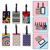 Luggage Tag Travel Suitcase Bag ID Tags Address Label Card Holder Rainbow Silica