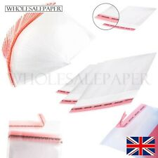 C6 A5 5 x 7 A4 A3 CLEAR CELLOPHANE BAGS SMALL LARGE SELF SEAL CELLO SWEET COOKIE