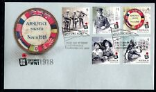 2018 Centenary of World War I (Gummed Stamps) FDC - Canberra ACT 2600 PMK