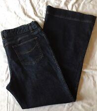 J. Jill Flare Leg Stretch Jeans Denim sz 14  Dark Wash Regular Rise