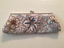 Beaded Floral Embrodery Wedding/Prom/Party Clutch Handbag