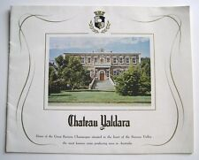 Vintage 1960s Wine Winery Brochure Book Chateau Yaldara Barossa Valley Australia