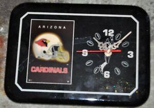 "Arizona Cardinals Wall Clock-11.5"" x 8.5"" Battery Operated"
