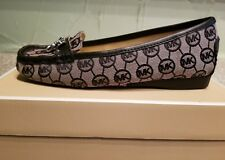 MICHAEL MICHAEL KORS WOMEN'S HAMILTON LOAFER MONOGRAM JACQUARD Shoes SZ 7  BLK