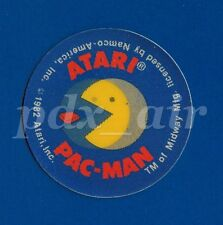 @1982 RARE ATARI PAC-MAN ARCADE GAME 3D HOLOGRAM MIDWAY MFG STICKER