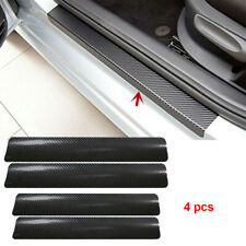 4x Car Accessories Door Sill Scuff Welcome Pedal Protect Carbon Fiber Sticker UP
