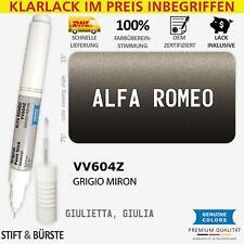 Felge VV604Z GRIGIO MIRON Lackstift für ALFA ROMEO BU0851 Schwarz GIULIETTA GIU