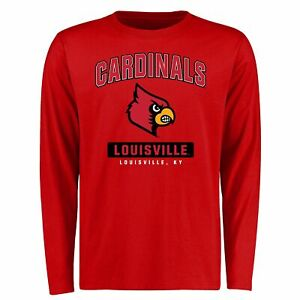 Louisville Cardinals Campus Icon Long Sleeve T-Shirt - Red