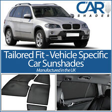 BMW X5 5dr 2007-2013 UV CAR SHADES WINDOW SUN BLINDS PRIVACY GLASS TINT BLACK