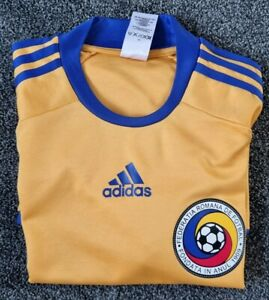Romania Home Shirt EURO 2008-09, By Adidas - Small/ Used
