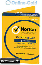 Norton Security 2018 5 Geräte 1 Jahr - EU Version - PC MAC Internet Security