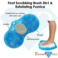 Shower Bath Bathing Aid Foot Massage Exfoliate Cleaner With Pumice Scrub Stone