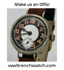 WW1 Trench Watch Dual Colour ENGRAVED52C Batt West Yorks 1918 Rolex Marconi Mvmt