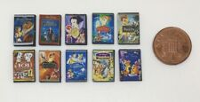 Dolls House Miniature 10 Walt Disney DVD's (DD061) Additional Items P&P FREE