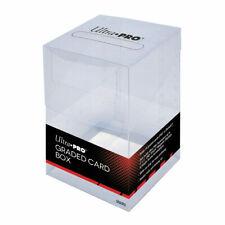 Ultra Pro Graded Card Box Clear Flip Top Storage Box Holds Beckett PSA Slabs