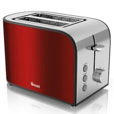 Swan 2 Slice Red 800W Townhouse Toaster ST17020REDN