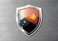 Papua New Guinea flag shield sticker 3d effect quality 7 year water & fade proof