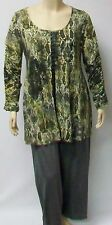 DUTCH DESIGNER YOEK THEIR SIZE LARGE,PALE GREEN SNAKESKIN LIKE TUNIC .LAGENLOOK.