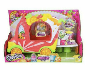 Shopkins Smoothie Truck Playset with 2 Stools Blender & Exclusive 2 Shopkins NEW