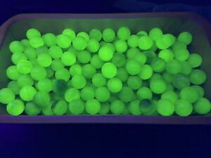 Vaseline glass Uranium  Mix Glass Marbles 28# Box 2500+ Marbles 600+ That Glow