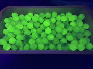 Vaseline glass Uranium  Mix Glass Marbles 28# Box 2500+ Marbles 600+ That Glow