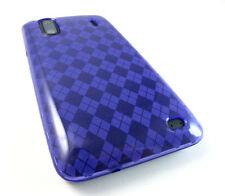 HTC Hero S Evo Design 4G TPU Candy Flexi Gel Crystal Skin Case Cover Purple Pld.
