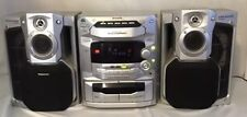 Panasonic SA-AK58 5 CD Cassette AM/FM Bookshelf Stereo System ***TESTED***