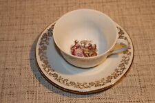 PL2-44) Pigois Jacquet Porzellan Kaffeetasse UnterT France Veritable Porcelaine