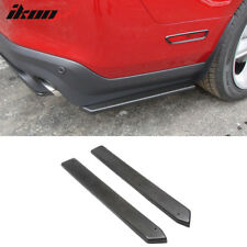 10-14 Ford Mustang Rear Bumper Side Canards Splitters Extensions 2 Piece Valance