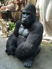 Gorilla Sculpture , Silver Back , Resin Life Like Gorilla King Kong mighty joe