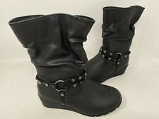 NEW! Skechers Youth Girl's Heartstoppers 2.0 Zip Up Boots Black 147B #87717L ck