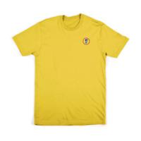 Brixton - Gancho Ss Estándar Camiseta - Amarillo Skate / Surf /Snowboard