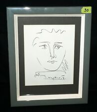 """Vintage Framed Etching """"Pour Roby"""" by Pablo Picasso (1881-1973) (IsH)30"""