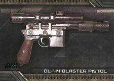 Star Wars Galactic Files Reborn Weapons Chase Card W-3 DL-44 Blaster Pistol