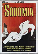 SODOMIA MANIFESTO FILM EROTICO ART DE SETA LARRAZ 1979 THE BITCH MOVIE POSTER 4F