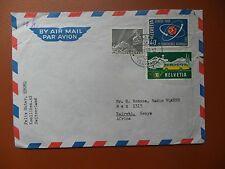 cover Kolliken Switzerland, September 24th 1958 addressed Kenya used.
