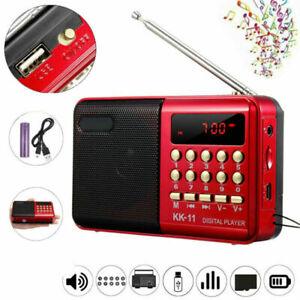 Mini Digital Portable FM Radio Pocket LCD Display Music Player Rechargeable US