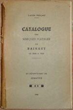 Catalogue des marques postales du Hainaut de 1648 à 1849, L. Herlant, 1949