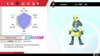 Pokemon Sword and Shield Square Ultra Shiny Lucario 6IV Fast Trading