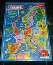 500 PIECE JIGSAW PUZZLE,PICTURE MAP PUZZLE OF EUROPE,JR