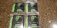 Four New Sets - Ashaway Ultra Kill 17 1.25mm 17g Racquetball String 40ft